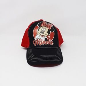 Kids Minnie Mouse Hat Red And Black Brand New NWT